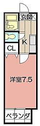 MOON江南町[205号室]の間取り