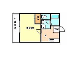 ラフォーレ金剛[3階]の間取り