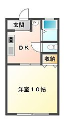 千葉県市原市島野の賃貸アパートの間取り