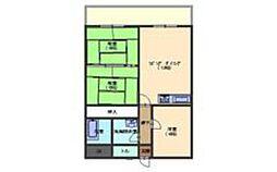 タイガーウイングマンション[3階]の間取り