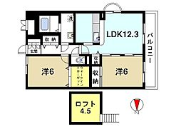 アイリスハイツ7号館[7階]の間取り