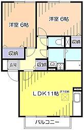 リーベンハウス[2階]の間取り