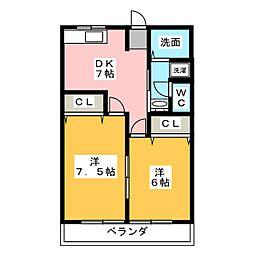さくら館21[1階]の間取り