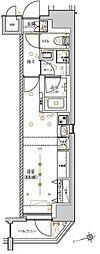 東京メトロ日比谷線 入谷駅 徒歩7分の賃貸マンション 7階ワンルームの間取り