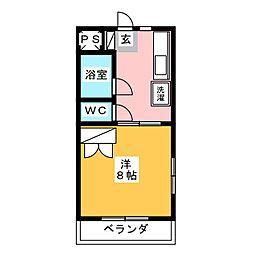 クラージュI[3階]の間取り