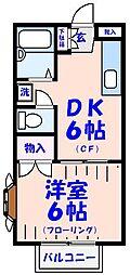 第五石井荘[101号室]の間取り