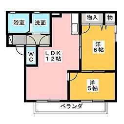 バリュージュカーム21[2階]の間取り