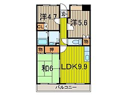 セブンハイツI[5階]の間取り