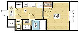 プレサンス新大阪ザ・シティ[1階]の間取り