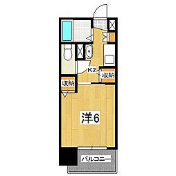 エステムコート京都河原町プレジール[802号室]の間取り