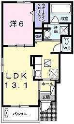 ベル・ソレイユ[1階]の間取り
