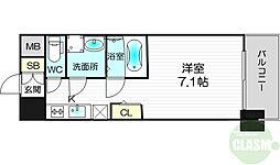 S-RESIDENCE新大阪Luna 10階1Kの間取り