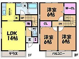 愛媛県松山市正円寺4丁目の賃貸アパートの間取り
