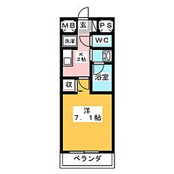 is常盤[4階]の間取り