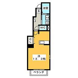 セレーノふくい弐番館[1階]の間取り