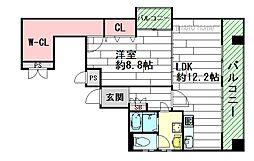 アルシェ江坂[6階]の間取り