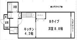 プレアデス本田[202号室号室]の間取り