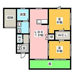 [一戸建] 茨城県水戸市石川2丁目 の賃貸【/】の間取り