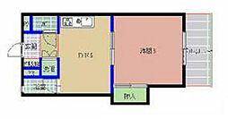 第3健ビル[401号室]の間取り