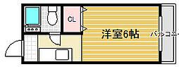 ハイツリベール[1階]の間取り