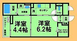 京王相模原線 多摩境駅 徒歩11分の賃貸マンション 1階1DKの間取り