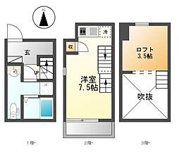 ポルト・ボヌールU2[1階]の間取り