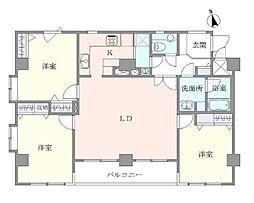 JR山手線 上野駅 徒歩9分の賃貸マンション 8階3LDKの間取り