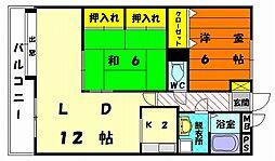 福岡県福岡市東区土井1丁目の賃貸マンションの間取り