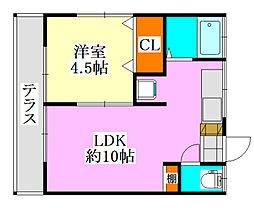 第1川奈部荘[103号室]の間取り