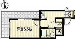 クリオ川崎東壱番館[4階]の間取り