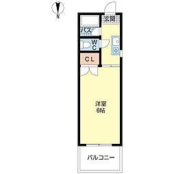 東洋プラザ大阪港1[6階]の間取り