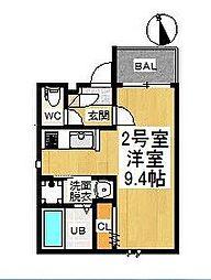 GRANDTIC月島 (グランティックツキシマ)[1階]の間取り