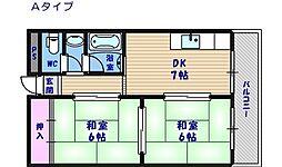 メゾン南加賀屋[4階]の間取り