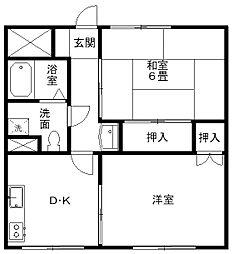 豊岡市今森 メゾン・ドゥ・リーブ[3階]の間取り