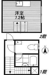 東京都豊島区長崎5丁目の賃貸アパートの間取り