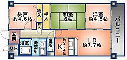 アロッジオKTI[303号室]の間取り