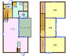 [テラスハウス] 和歌山県和歌山市塩屋5丁目 の賃貸【/】の間取り