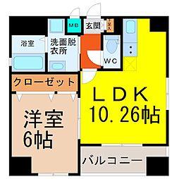 YOSHINO SQUARE(ヨシノスクエア)[6階]の間取り