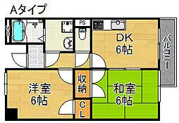 トミー六番館[2階]の間取り