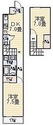 フィールズマンション1[205号室]の間取り