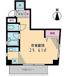 東京都新宿区西早稲田2丁目の賃貸マンションの間取り