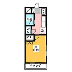 フォレスト岩井[4階]の間取り