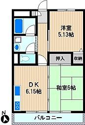 新川崎二千[3階]の間取り