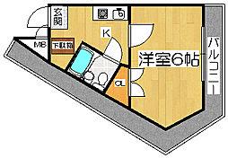 プレアール堺東II[5階]の間取り