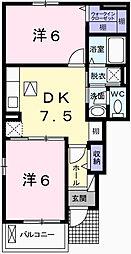 マリッチ赤穂B[1階]の間取り