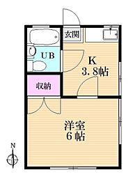 コーポウイングA棟[1階]の間取り