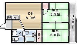 桃ケ池パークハイツ[3階]の間取り