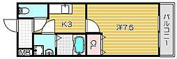 フジパレスタカシロI番館[108号室]の間取り