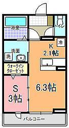 仮)元吉田町アパート[206号室]の間取り