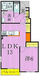 エクロール正連寺B[1階]の間取り